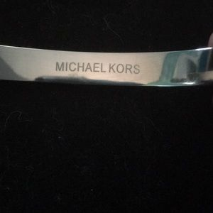 Michael Kors Jewelry - Michael Kors Silver Tone Crystal Pave Astor Stud